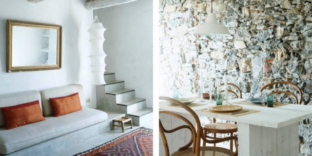 rustico architetto clara bona soggiorno e tavolo apparecchiato