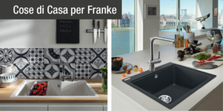 lavelli franke in Fragranite modelli Urban e Maris