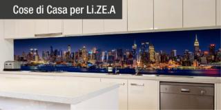 Schienali della cucina personalizzati: funzionalità ed estetica dei pannelli decorativi Li.Ze.A.