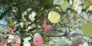 ghirlanda fai da te per Pasqua