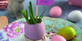 Decorare le uova per la tavola di Pasqua: segnaposto eco e chic