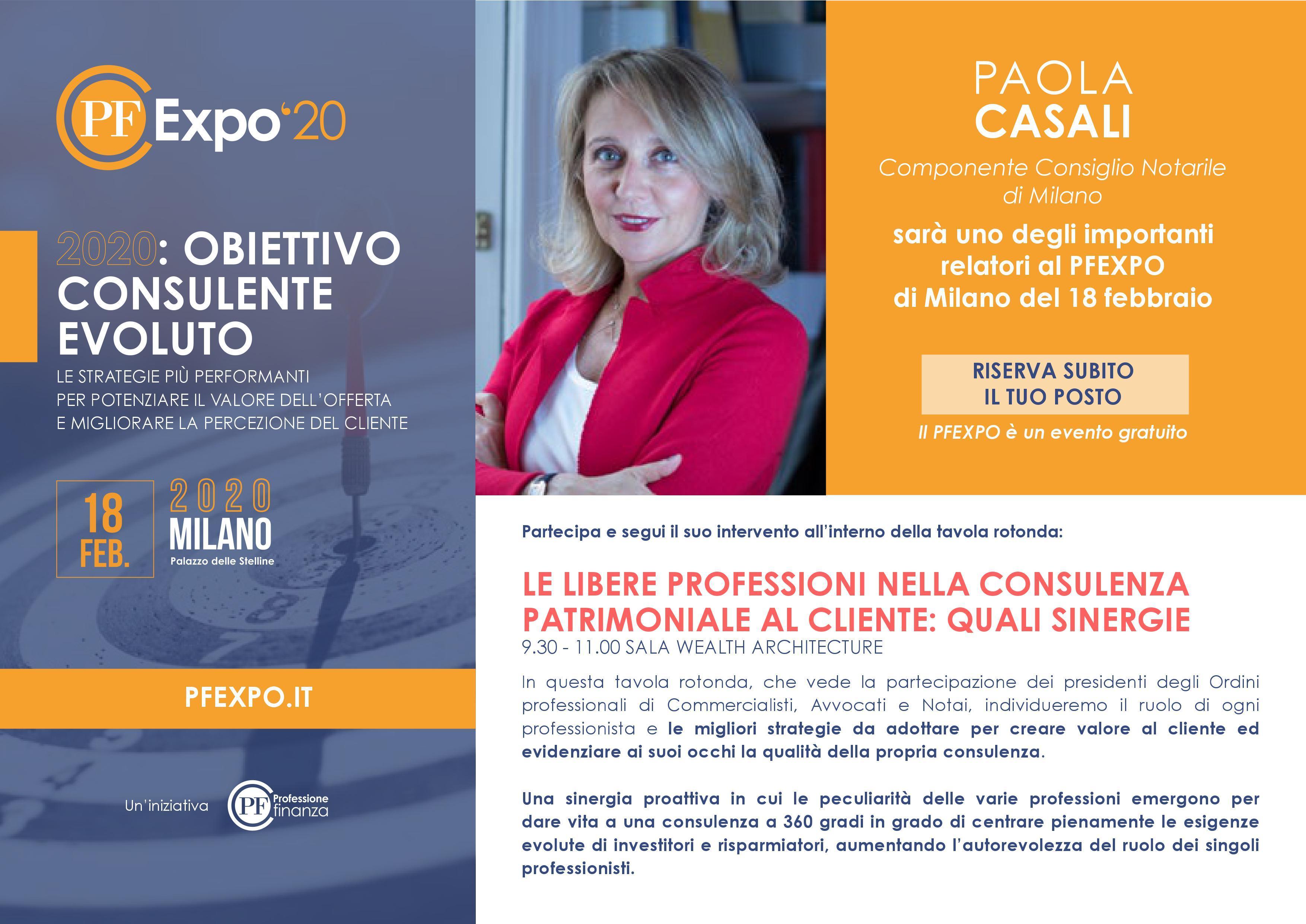 PFEXPO: evento formativo dedicato ai professionisti della consulenza