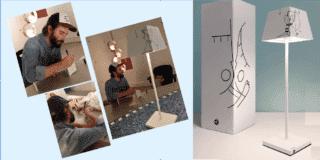 Lampada a led wireless in edizione limitata: Siesta di Rossini decorata a mano