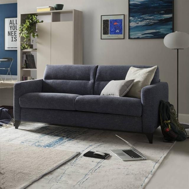 divano letto divani&divanibynatuzzi fascino tessuto blu