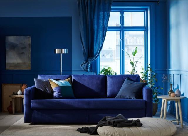 divano letto ikea friheten tessuto blu