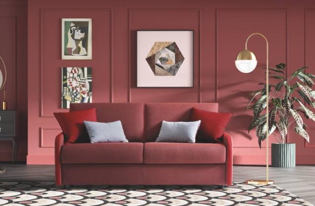 divano letto lacasamoderna atelier fuego tessuto rosso sfoderabile
