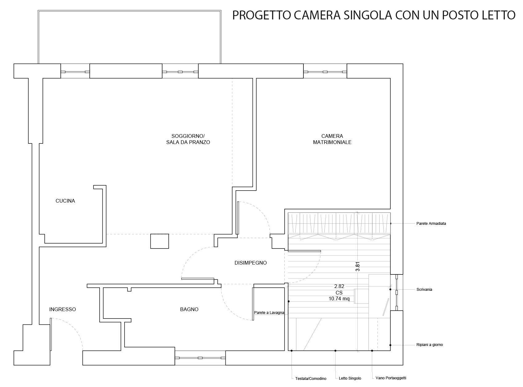 Camera Matrimoniale 14 Mq.Interior Design Progetto D Arredo Per La Cameretta Cose Di Casa
