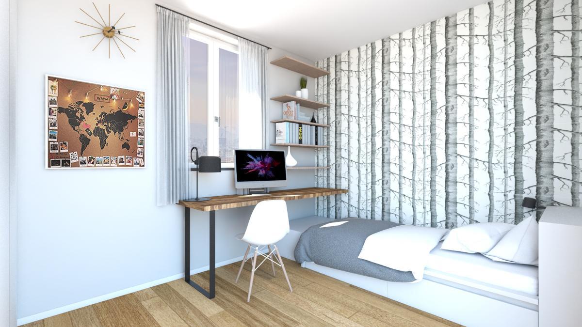 Carta Da Parati Ingresso interior design: progetto d'arredo per la cameretta - cose