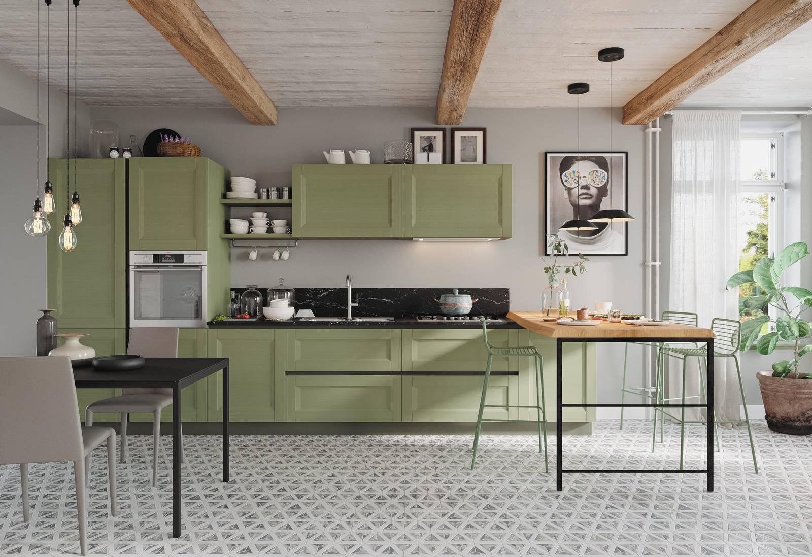 Cucine con ante riquadrate: il rétro attuale Cose di Casa