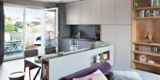 Monolocale di 45 mq: un mini appartamento arredato su misura