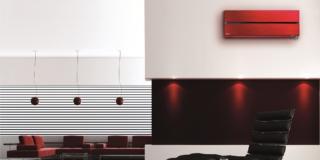 Ambientazione soggiorno con climatizzatori Mitsubishi Electric Kirigamine