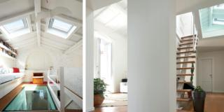 Casa in piena luce con il recupero del sottotetto