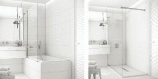 Soluzione per trasformare la vasca in doccia di Fiora