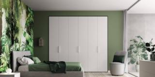 letto contenitore Stoccarda di La Casa Moderna tessuto grigio sfoderabile