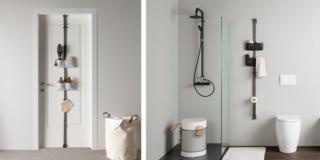 Un'idea anche salvaspazio: sfruttare lo spazio libero a parete o sulla porta