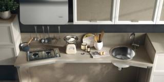 particolare della cucina Utility System di Scavolini disabili