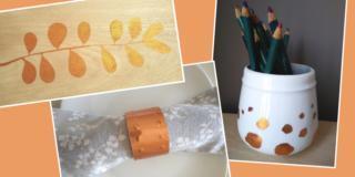 Decorazione effetto rame per quadretto, portatovagliolo o portamatite