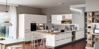cucina bianca carrera f1 veneta cucine bianco legno penisola