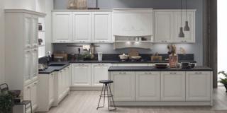 cucina retro tonalita neutre lola arrex ante legno frassino laccato bianco isola