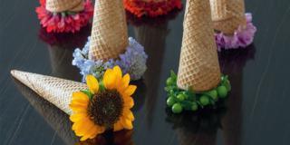 Fai da te: coni fioriti per l'estate