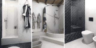 Vasca con doccia: 3 progetti per sorprendenti soluzioni in muratura