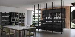 cucina aperta living kaleidos febal casa ante gres