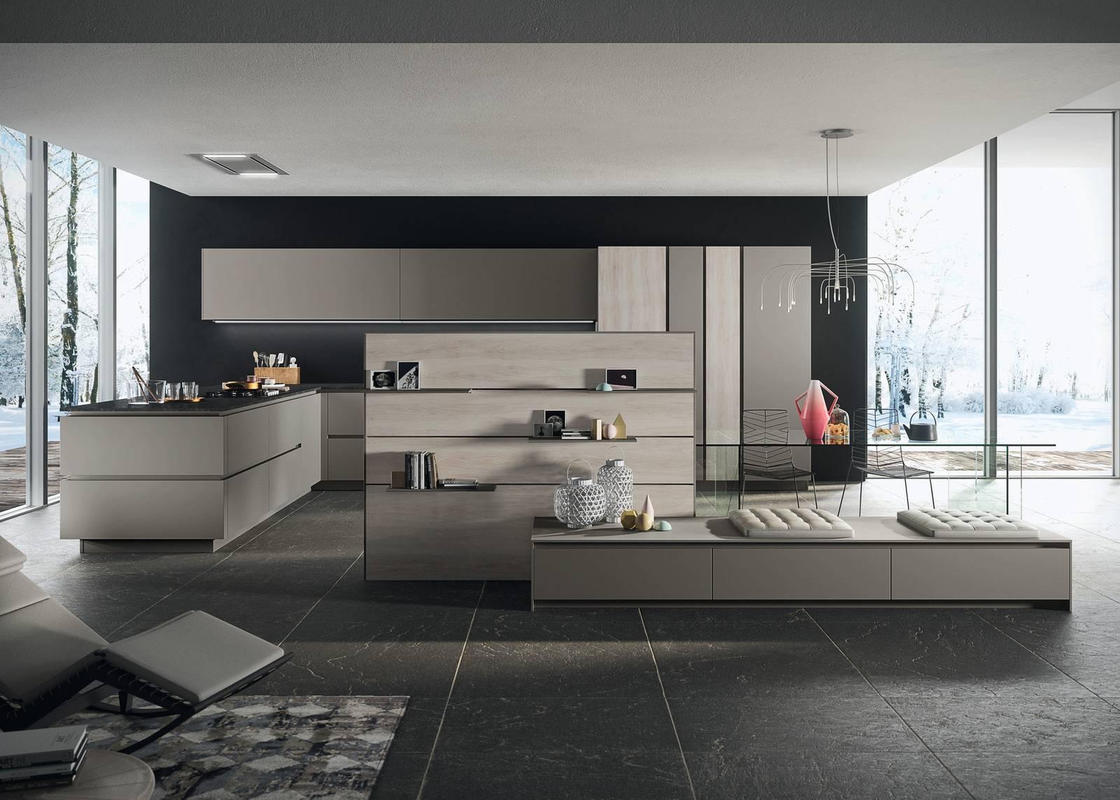 Cucine a vista sul soggiorno: tante funzioni in un unico ...
