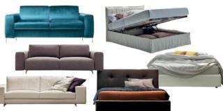 Imbottiti per la casa piccola: divani piccoli e letti con contenitore