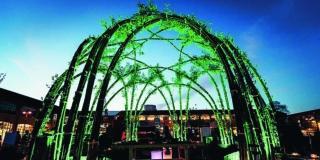 Cupola in salice per Green Utopia foto e progetto Tullio Zenone