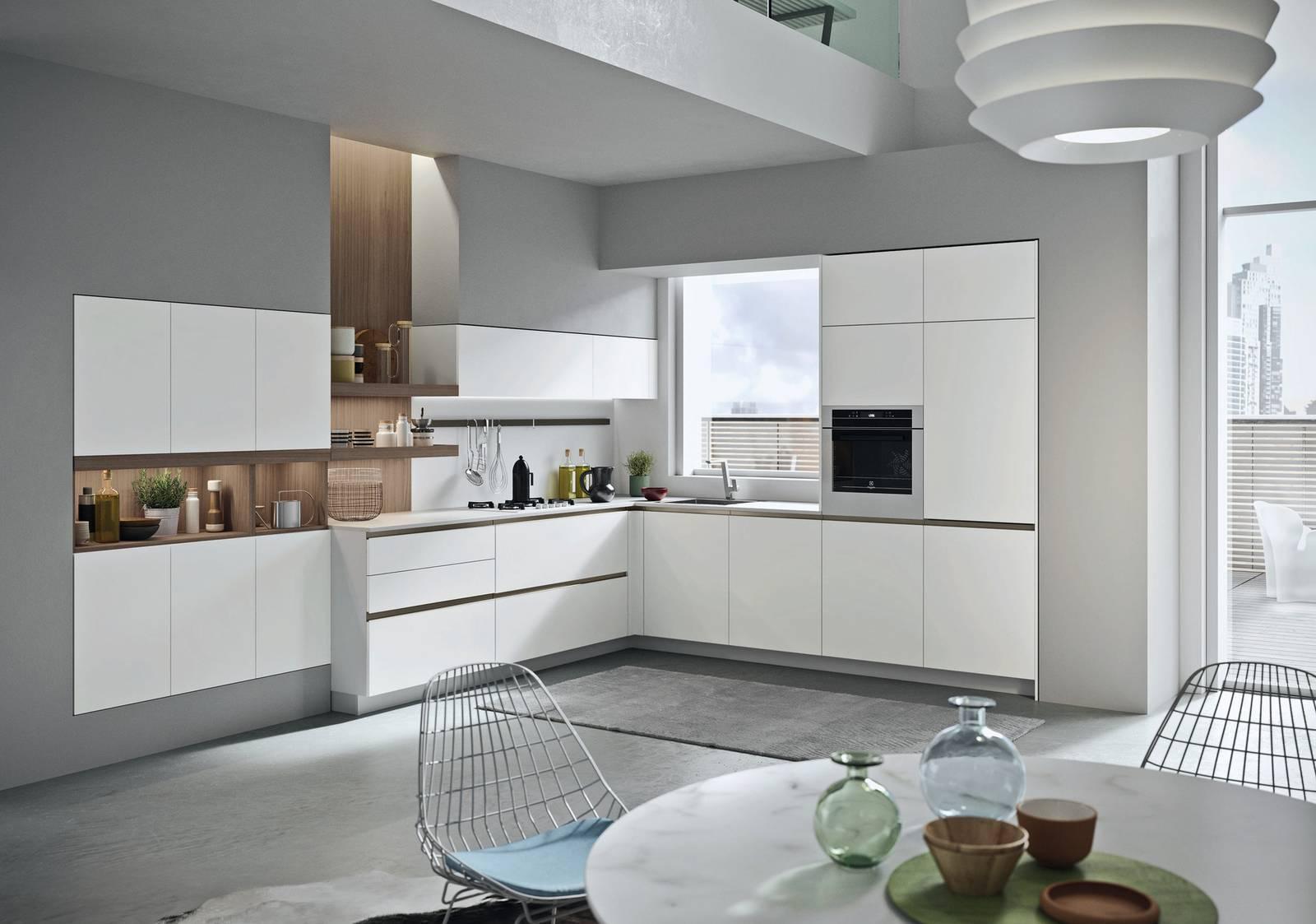 Cucine a L, a vista sul soggiorno o separate - Cose di Casa
