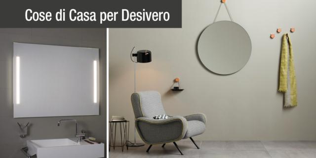 Specchi bagno: rotondi, con luce integrata e particolari