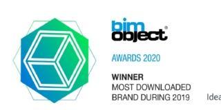 ideal standard vincitrice premio Most Downloaded Brand Bimobject Awards 2020