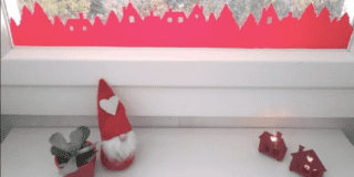 Decorazioni adesive Natale carta vellutata finestre