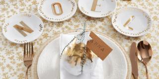 Segnaposto per la tavola di Natale con frutti dorati & Co.