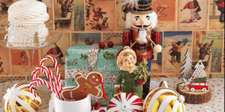 Centrotavola vintage per Natale