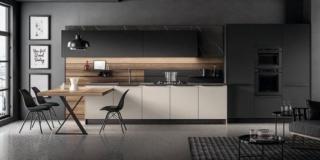 cucina aperta sul living Kalì di Arredo3
