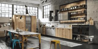 Cucine in stile industriale: 10 modelli in essenza o laccati