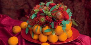 Il centrotavola importante con le arance