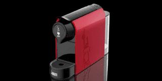 Macchine per il caffè espresso metallizzate, nere o rosse