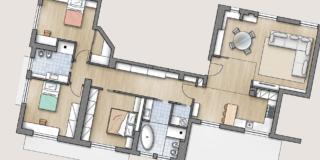 Progetto e costi ristrutturazione per spostare la cucina e ricavare stanza in più e lavanderia