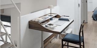 corridoio soppalco con scrivania