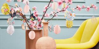 Decorazioni pasquali: uova in fiore