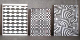 Optical, quadretti con avanzi di carte da parati