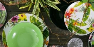servizio piatti Tropical Jungle di Villa d'Este Tivoli in vendita su Westwingnow