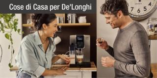 Home bar con le macchine automatiche De'Longhi per il caffè in chicchi