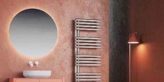 scaldasalviette Kelly 38 di Cordivari Design in acciaio inox lucido