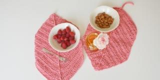 Tovagliette crochet a forma di foglia