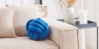cuscino colorato decorativo nodo bluette poliestere malni beliani