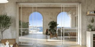 Dividere soggiorno e cucina con le porte scorrevoli