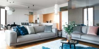 Nuovo appartamento di 130 mq riprogettato per quattro